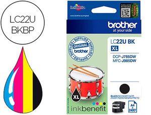 INK-JET BROTHER LC22UBK XL DCP-J785DW / DCP-J785DWXL / MFC-J985DW / MFC-J985DW NEGRO 2.400 PAG