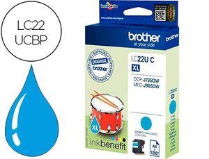 INK-JET BROTHER LC22UCBP XL DCP-J785DW / DCP-J785DWXL / MFC-J985DW / MFC-J985DW CIAN 1.200 PAG