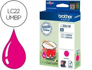INK-JET BROTHER LC22UMBP XL DCP-J785DW / DCP-J785DWXL / MFC-J985DW / MFC-J985DW MAGENTA 1.200 PAG