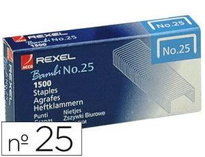GRAPAS REXEL N. 25 21/4 -CAJA DE 1500