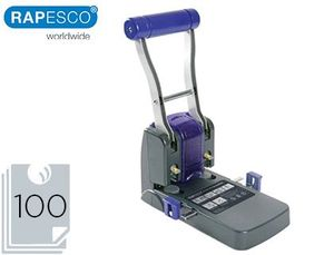 TALADRADOR RAPESCO P1100 NEGRO / MORADO 2 TALADROS GRAN CAPACIDAD 100 HOJAS