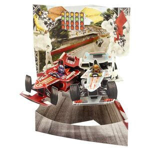 POSTAL SWING 3D COCHES CARRERA