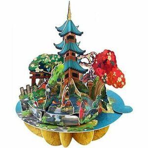 POSTAL PIROUETTE 3D JARDIN JAPONES