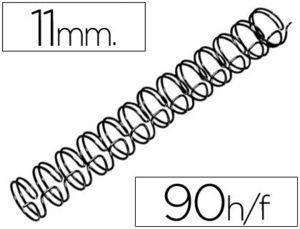 ESPIRAL WIRE 3:1 11 MM N.7 NEGRO CAPACIDAD 90 HOJAS CAJA DE 100 UNIDADES