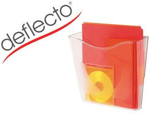 EXPOSITOR MURAL DEFLECTO DOCUPOCKETS CLASSIC DIN A4 VERTICAL TRANSPARENTE 265X260X100 MM