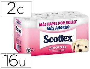 PAPEL HIGIENICO SCOTTEX 2 CAPA S ORIGINAL PAQUETE 16 ROLLOS