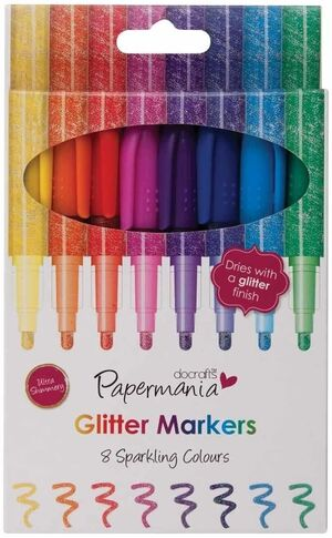 PACK 8 ROTULADORES GEL GLITTER