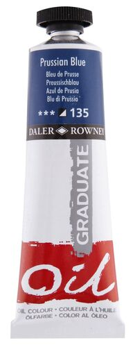 TUBO OLEO DALER ROWNEY GRADUATE 38 ML AZUL DE PRUSIA