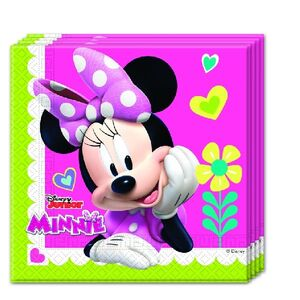 SERVILLETAS 33X33 MINNIE ROSA