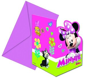 INVITACIONES FORMA MINNIE ROSA