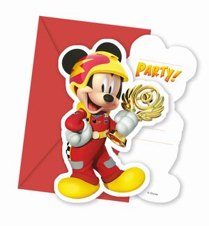 INVITACIONES MICKEY ROADSTER RACERS