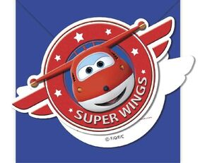 INVITACIONES FORMA SUPER WINGS B-6