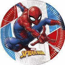 PLATOS PAPEL COMPOSTABLE 23 CM. SPIDERMAN PAQ. 8 UDS.