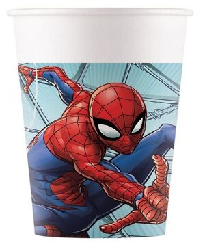 VASOS CARTON SPIDERMAN 200 ML. PAQ. 8 UDS.