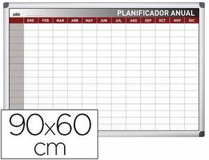 PLANNING ROCADA ANUAL MAGNETICO ROTULABLE MARCO DE ALUMINIO 75X115 CM