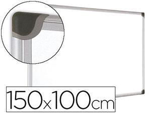 PIZARRA BLANCA BI-OFFICE MAGNETICA MAYA W CERAMICA VITRIFICADA MARCO DE ALUMINIO 150 X 100 CM CON BA