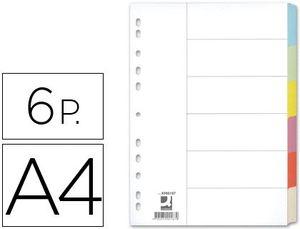 JUEGO 6 SEPARADORES A4 Q-CONNECT CARTULINA
