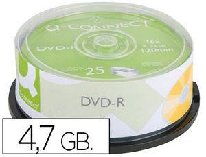 DVD-R Q-CONNECT CAPACIDAD 4,7GB DURACION 120MIN VELOCIDAD 16X BOTE DE 25 UNIDADES