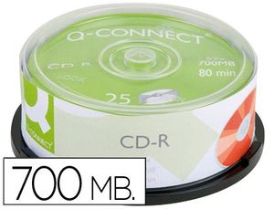 TARRINA 25 CD-R Q-CONNECT 700MB 80 MIN