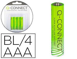 BLISTER 4 PILAS Q-CONNECT ALCALINA AAA
