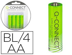BLISTER 4 PILAS Q-CONNECT ALCALINA AA
