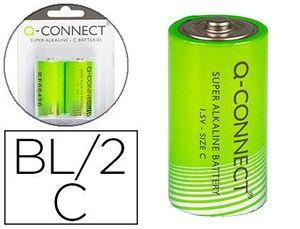 PILA Q-CONNECT ALCALINA C -BLISTER CON 2 PILAS