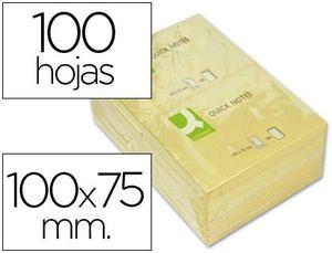 BLOC NOTAS ADHESIVAS Q-CONNECT 75X100 MM 100 HJ
