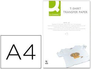 PAPEL Q-CONNECT TRANSFERENCIA PARA TELA KF01430 DIN A4 -BOLSA DE 10 HOJAS