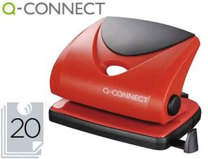 TALADRADOR Q-CONNECT KF02156 ROJO -ABERTURA 2 MM -CAPACIDAD 20 HOJAS