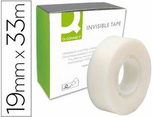 CINTA ADHESIVA INVISIBLE Q-CONNECT 33 MT X 19 MM