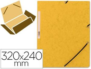 CARPETA CARTON Q-CONNECT AMARILLO GOMAS SOLAPAS 320X243 MM