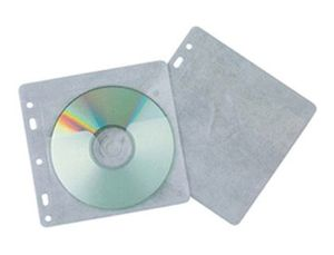 SOBRE PARA 2 CD Q-CONNECT POLIPROPILENO CON SOLAPA MULTITALADRO Y FORRO PROTECTOR-PACK DE 40 UNIDADE