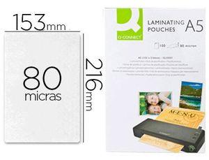 BOLSA DE PLASTIFICAR Q-CONNECT 153 X 216