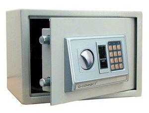CAJA DE SEGURIDAD Q-CONNECT ELECTRONICA CLAVE DIGITAL CAPACIDAD 10L CON ACCESORIOS FIJACION 310X200X