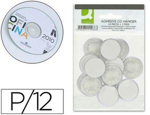 SOPORTE PARA CD Q-CONNECT ADHESIVOS -BOLSA DE 12 UNIDADES