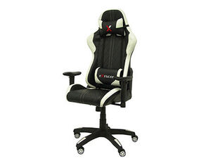 SILLA Q-CONNECT GAMING CHAIR GIRATORIA SIMILPIEL REGULABLE EN ALTURA NEGRA 1200+80X670X670 MM