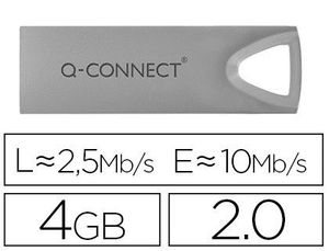 MEMORIA USB Q-CONNECT FLASH PREMIUM 4 GB 2.0