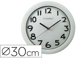 RELOJ PARED 30CM Q-CONNECT PP BLANCO