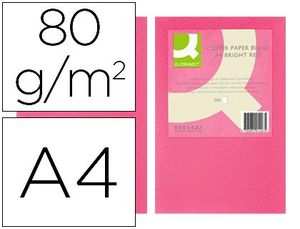 PAPEL Q-CONNECT A4 ROSA INTENSO 500 HJ