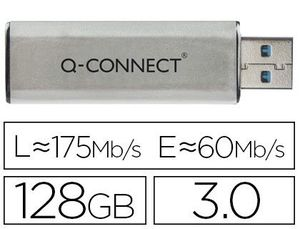 MEMORIA USB Q-CONNECT FLASH 128 GB 3.0
