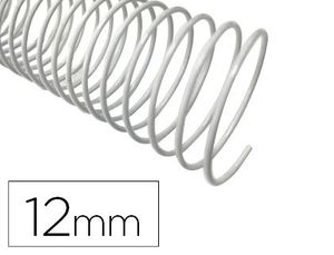 ESPIRAL METALICO Q-CONNECT BLANCO 64 5:1 12 MM 1MM CAJA DE 200 UNIDADES