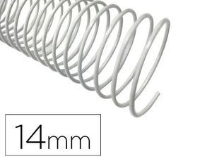 ESPIRAL METALICO Q-CONNECT BLANCO 64 5:1 14 MM 1MM CAJA DE 100 UNIDADES