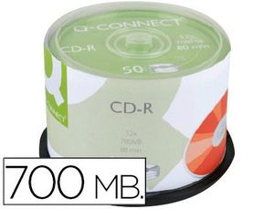 CD-R Q-CONNECT CON SUPERFICIE 100% IMPRI