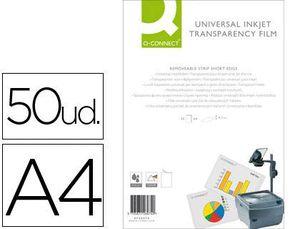 TRANSPARENCIA Q-CONNECT A4 ALTA CALIDAD INK-KET CAJA 50 UD