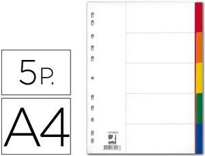 JUEGO 5 SEPARADORES Q-CONNECT PP A4