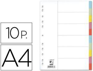 SEPARADOR Q-CONNECT CARTULINA JUEGO DE 10 SEPARADORES DIN A4-MULTITALADRO