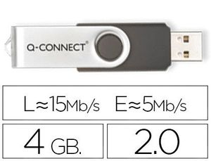 MEMORIA USB Q-CONNECT FLASH 4 GB 2.0