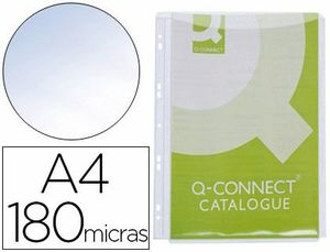 FUNDA MULTIT Q-CONNECT FUELLE A4 PVC 180 MICRAS BOLSA 5 UD