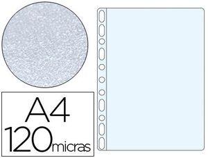 FUNDA MULTITALADRO Q-CONNECT DIN A4 120 MC PIEL DE NARANJA CAJA DE 100 UNIDADES