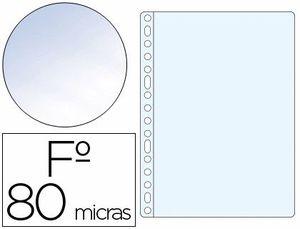 FUNDA MULTITALADRO Q-CONNECT Fº 80 MC CRISTAL CAJA 100 UD